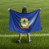 Bandera de las mujeres y de Vermont imagenes de archivo
