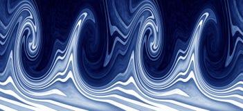 Bandera de las olas oceánicas Fotos de archivo libres de regalías