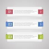 Bandera de las opciones de Infographic Fotos de archivo
