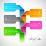 Bandera de las opciones de Infographics ilustración del vector