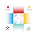 Bandera de las opciones de la plantilla del diseño de Infographic ilustración del vector