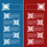 Bandera de las opciones del infographics del garabato del mosaico Fotos de archivo libres de regalías