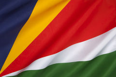 Bandera de las Seychelles - el Océano Índico Imagen de archivo libre de regalías