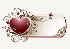 Bandera de las tarjetas del día de San Valentín Imagen de archivo libre de regalías