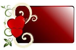 Bandera de las tarjetas del día de San Valentín Imagen de archivo