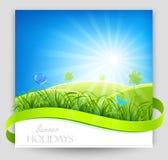 Bandera de las vacaciones de verano Foto de archivo libre de regalías