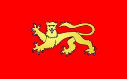 Bandera de Laval, Francia imagenes de archivo