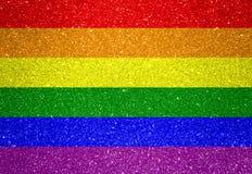 Bandera de LGBT fotografía de archivo libre de regalías