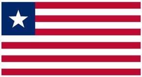 Bandera de Liberia - bandera, África, país ilustración del vector