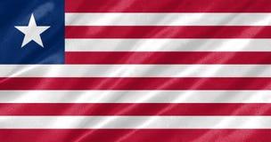 Bandera de Liberia stock de ilustración