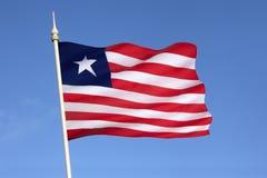 Bandera de Liberia - bandera de la conveniencia Fotos de archivo libres de regalías
