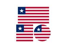 Bandera de Liberia - la República de Liberia stock de ilustración