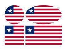 Bandera de Liberia - la República de Liberia ilustración del vector