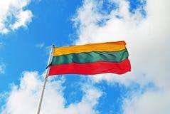 Bandera de Lituania Foto de archivo