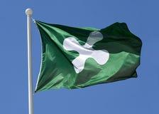 Bandera de Lombardía, Italia Foto de archivo