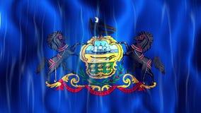 Bandera de Loopable del estado de Pennsylvania stock de ilustración