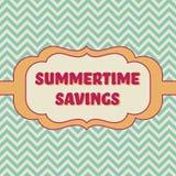 Bandera de los ahorros del verano Imagen de archivo