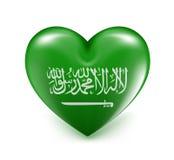 Bandera de los corazones de la Arabia Saudita del amor libre illustration