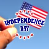 Bandera de los E.E.U.U. del Día de la Independencia con la bandera americana Fotos de archivo