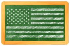 Bandera de los E.E.U.U. en un tablero negro Foto de archivo libre de regalías