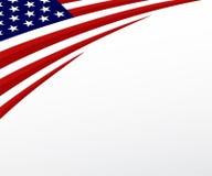 Bandera de los E.E.U.U. Estados Unidos señalan el fondo por medio de una bandera. Vector Foto de archivo
