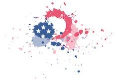 Bandera de los E.E.U.U. del chapoteo de la tinta Foto de archivo libre de regalías
