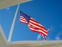 Bandera de los E.E.U.U. - Pearl Harbor Imágenes de archivo libres de regalías