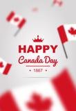 Bandera de los elementos del diseño para el día de Canadá el 1 de julio Imágenes de archivo libres de regalías
