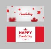 Bandera de los elementos del diseño para el día de Canadá el 1 de julio Fotografía de archivo