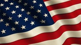 Bandera de los Estados Unidos de América almacen de video