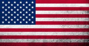 Bandera de los Estados Unidos de América los E.E.U.U. ilustración del vector
