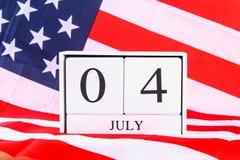 Bandera de los Estados Unidos de América los E.E.U.U. para el 4 de julio Fotografía de archivo libre de regalías