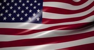 Bandera de los Estados Unidos de América en el viento metrajes