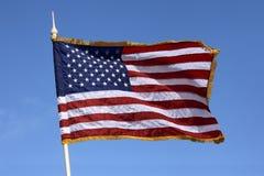 Bandera de los Estados Unidos de América Foto de archivo libre de regalías