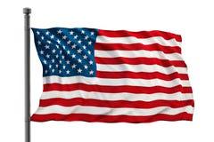 Bandera de los Estados Unidos de América (los E.E.U.U.) Imagen de archivo libre de regalías