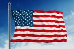 Bandera de los Estados Unidos de América (los E.E.U.U.) Fotos de archivo libres de regalías