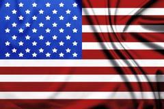 Bandera de los Estados Unidos de Am?rica ilustración del vector