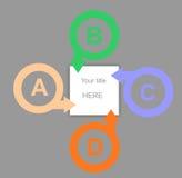 Bandera de los gráficos de la información Fotos de archivo libres de regalías