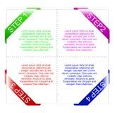 Bandera de los gráficos de la información Imágenes de archivo libres de regalías