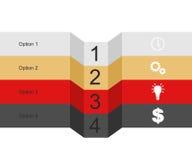 Bandera de los gráficos de la información Imagenes de archivo