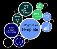 Bandera de los gráficos de la información Fotografía de archivo