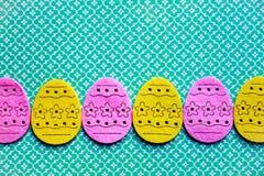 Bandera de los huevos de Pascua fotos de archivo