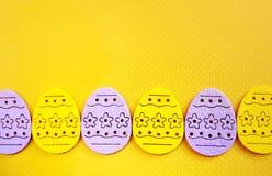Bandera de los huevos de Pascua fotos de archivo libres de regalías
