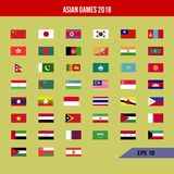Bandera de los Juegos Asiáticos Foto de archivo