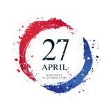 Bandera de los Países Bajos bajo la forma de círculo Es 27 de abril Day de rey libre illustration
