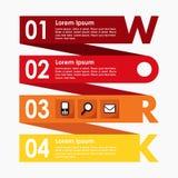Bandera de los pasos de las opciones de Infographics, concepto del negocio, diseño plano moderno, fondo del ejemplo