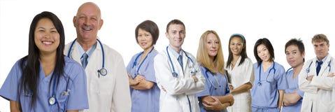 Bandera de los profesionales del cuidado médico Imagen de archivo