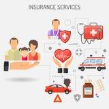 Bandera de los servicios de seguro Imagen de archivo