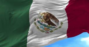 Bandera de México en el viento