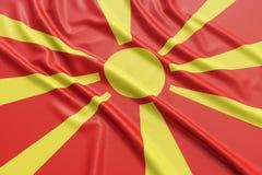 Bandera de Macedonia Fotografía de archivo libre de regalías
